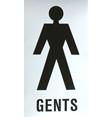 SD01 Door Sign - Gentleman