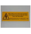SH10 Hazard Plate